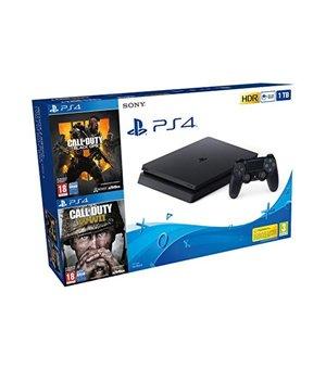 Play Station 4 Slim + Call Of Duty Black Ops 4 + Call Of Duty WWII Sony 8 GB RAM 1 TB Schwarz