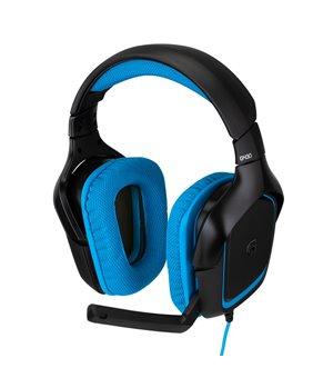 Gaming Headset mit Mikrofon Logitech 981-000537 USB (3.5 mm) Schwarz Blau