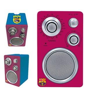 Tragbares Radio F.C. Barcelona Granatrot