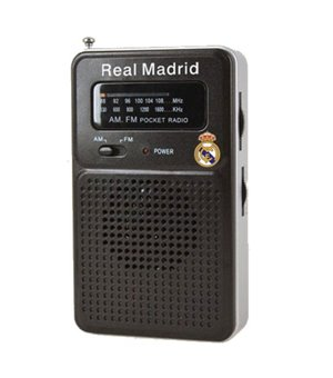 Tragbares Radio Real Madrid C.F. Schwarz