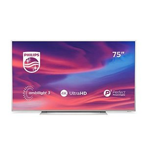 "Smart TV Philips 75PUS7354 75"" 4K Ultra HD LED WiFi Ambilight Silberfarben"