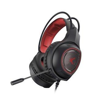 Gaming Headset mit Mikrofon Drakkar USB LED Schwarz Rot