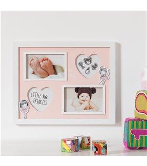 Bilderrahmen für die Wand Little Princess (4 Fotos)
